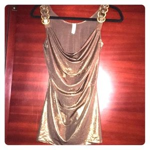 2for$8 Gold Shimmery Sexy Top